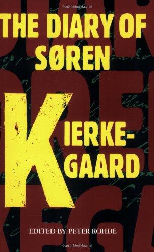 Diary of Soren Kierkegaard  Reprint edition cover
