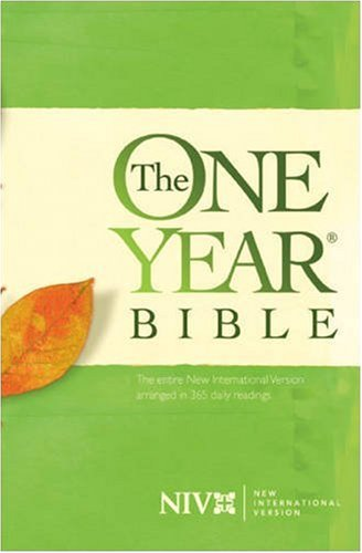 One Year Bible NIV   1986 edition cover