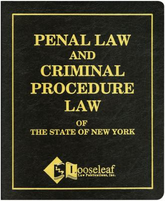 Penal Law and Criminal Procedure Law   2015 edition cover