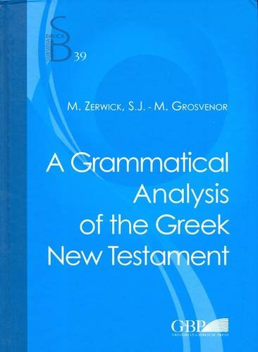 Grammatical Analysis of the Greek New Testament  5th 2010 edition cover