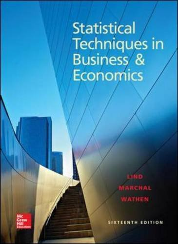 Statistical Techniques in Business and Economics:  16th 2014 9780078020520 Front Cover