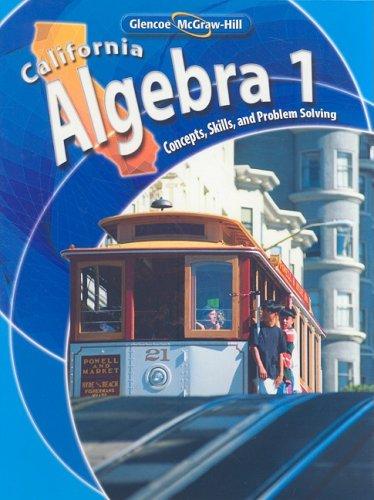 Algebra 1: California Edition  2008 edition cover