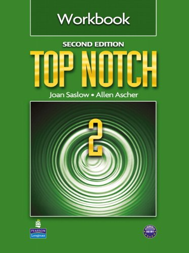 Top Notch 2 Workbook  2nd 2011 (Revised) 9780132470520 Front Cover