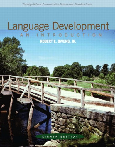 Language Development An Introduction 8th 2012 (Revised) 9780132582520 Front Cover