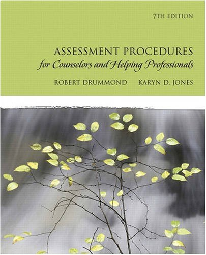 Assessment Procedures for Counselors and Helping Professionals  7th 2010 edition cover