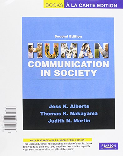 Human Communication in Society, Books a la Carte Plus MyCommunicationLab  2nd 2010 9780205743520 Front Cover