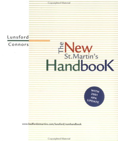 New St. Martin's Handbook 2001 APA  2001 (Revised) edition cover