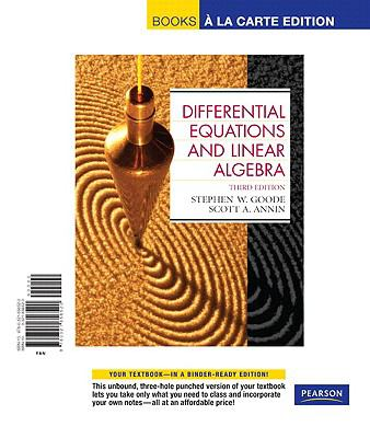 Differential Equations and Linear Algebra, Books a la Carte Edition  3rd 2008 edition cover