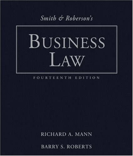 Smith and Roberson's Business Law  14th 2009 edition cover