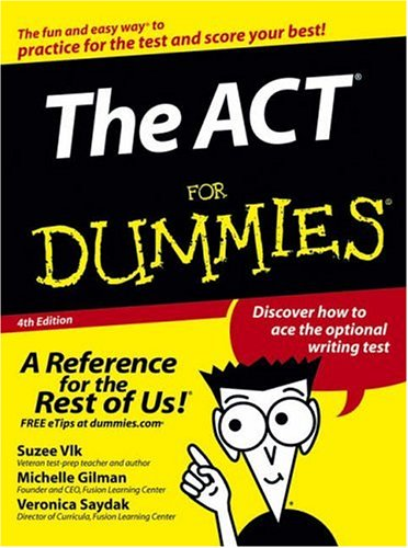 ACT for Dummies  4th 2005 (Revised) edition cover