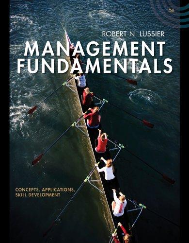 Management Fundamentals Concepts, Applications, Skill Development 5th edition cover