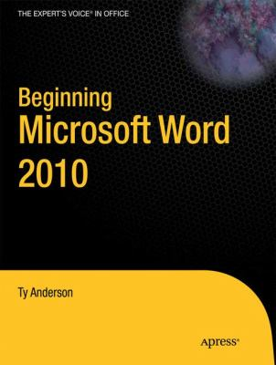 Beginning Microsoft Word 2010   2010 9781430229520 Front Cover