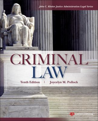 Criminal Law  10th 2013 (Revised) edition cover