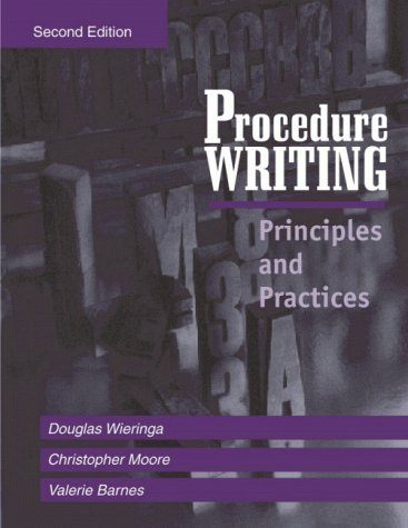 Procedure Writing : Principles and Practices 2nd edition cover
