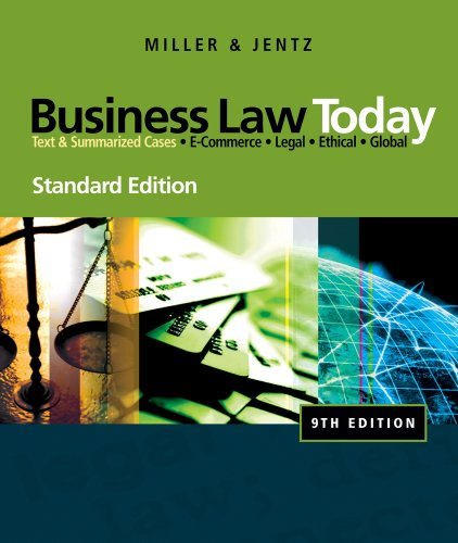 Business Law Today, Standard Edition  9th 2011 edition cover