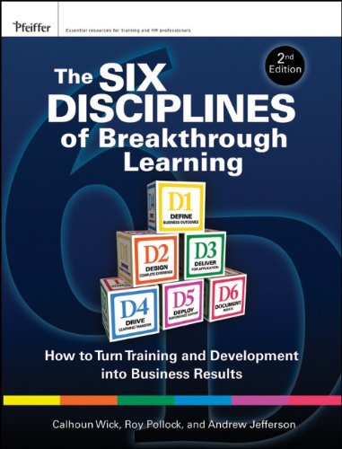 Six Disciplines of Breakthrough Learning How to Turn Training and Development into Business Results 2nd 2010 edition cover