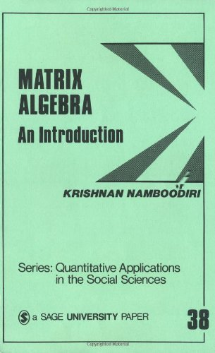 Matrix Algebra An Introduction  1984 edition cover