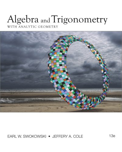 Algebra and Trigonometry with Analytic Geometry  13th 2012 edition cover