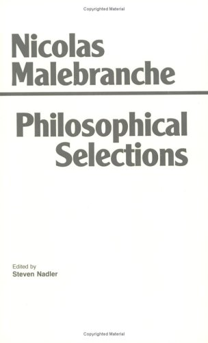 Philosophical Selections From the Search after Truth, Dialogue on Metaphysics, Treatise on Nature and Grace  1992 edition cover