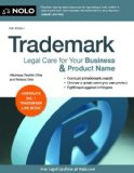 Trademark Legal Care for Your Business and Product Name 10th 2013 9781413319521 Front Cover