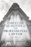 Essential Qualities of the Professional Lawyer  N/A edition cover