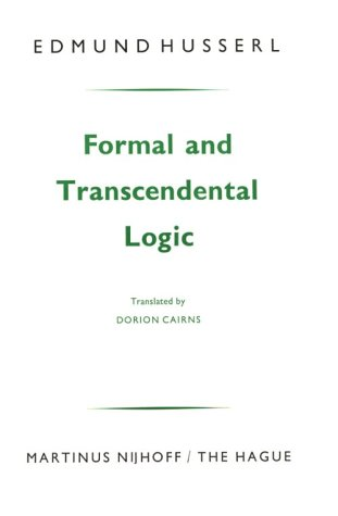 Formal and Transcendental Logic  9th 1969 (Revised) edition cover