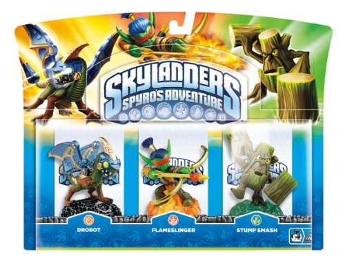 Activision Inc. Skylanders: Spyro's Adventure - Triple Character Pack - Drobot, Stump Smash And Flameslinger - Wii/ps3/xbox 360/pc Windows 7 artwork