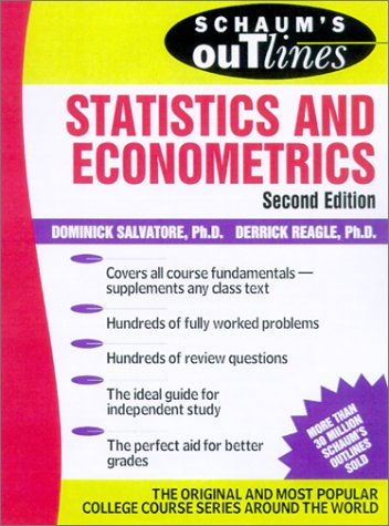 Schaum's Outline of Statistics and Econometrics  2nd 2002 (Revised) edition cover