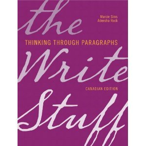 Write Stuff Thinking Through Paragraphs  2014 9780135123522 Front Cover