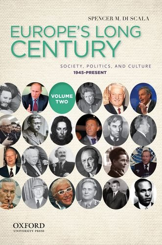 Europe's Long Century Society, Politics, and Culture, 1945-Present  2012 edition cover