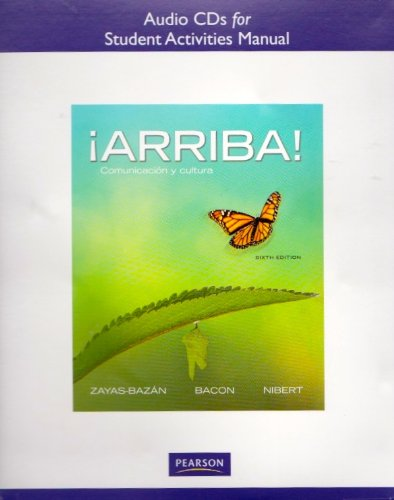ARRIBA!  -AUDIO CDS(3) N/A 9780205017522 Front Cover