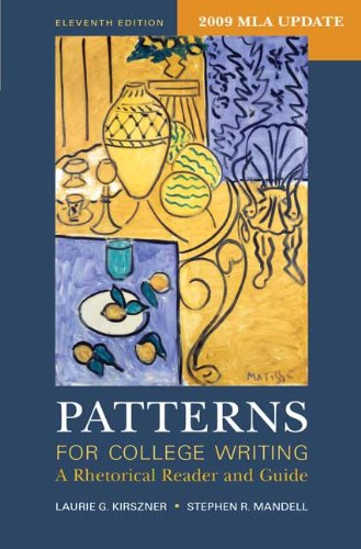 Patterns for College Writing with 2009 MLA Update A Rhetorical Reader and Guide 11th 2009 edition cover