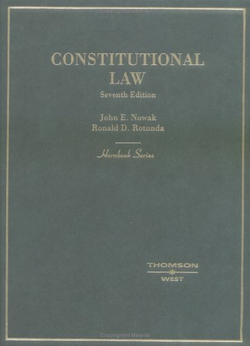 Hornbook on Constitutional Law  7th 2004 (Revised) edition cover