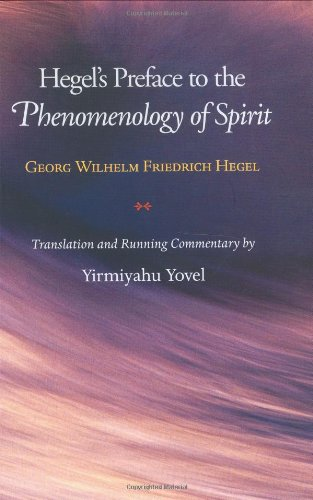 Hegel's Preface to the Phenomenology of Spirit   2005 edition cover