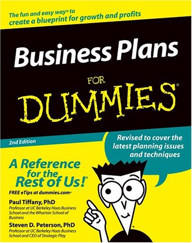 Business Plans for Dummies  2nd 2005 (Revised) edition cover