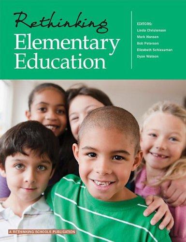 Rethinking Elementary Education   2012 edition cover
