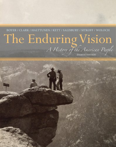 Enduring Vision A History of the American People 8th 2014 edition cover