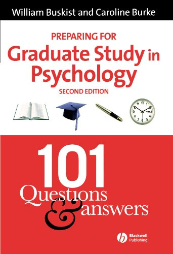 Preparing for Graduate Study in Psychology 101 Questions and Answers 2nd 2006 (Revised) edition cover