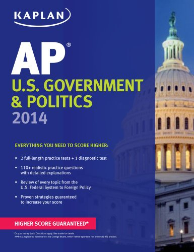 Kaplan AP U. S. Government and Politics 2014  N/A edition cover