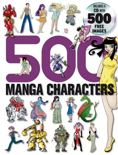 500 Manga Characters  N/A 9780061256523 Front Cover