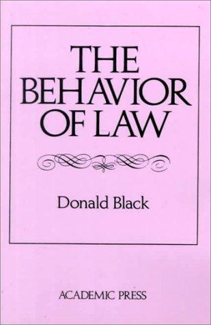 Behavior of Law  2nd 1980 (Reprint) 9780121026523 Front Cover