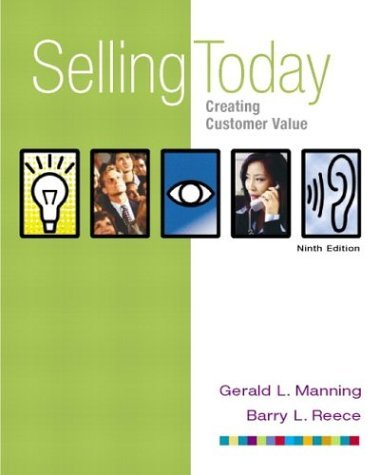 Selling Today Creating Customer Value 9th 2004 edition cover