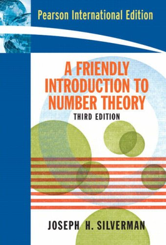 A Friendly Introduction to Number Theory N/A edition cover