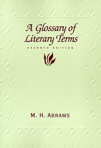 Glossary of Literary Terms  7th 1999 edition cover
