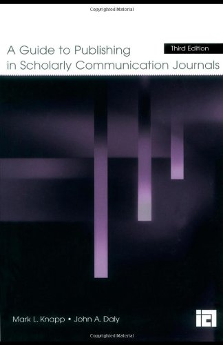 Guide to Publishing in Scholarly Communication Journals  3rd 2004 (Revised) edition cover