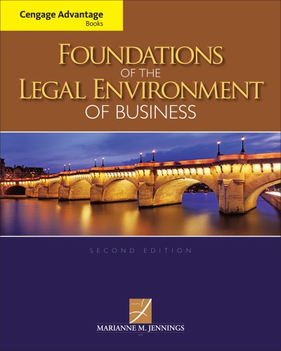 Foundations of the Legal Environment of Business  2nd 2013 edition cover