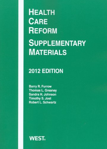 Health Care Reform Supplementary Materials 2012 N/A edition cover
