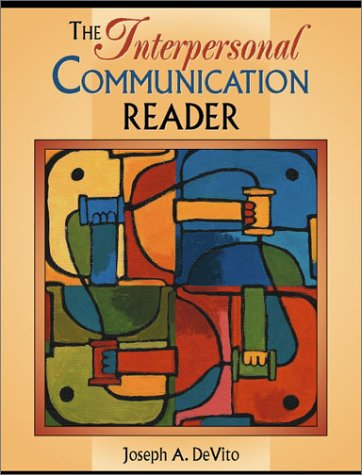 Interpersonal Communication Reader   2002 edition cover