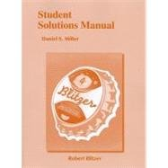 Student Solutions Manual for Introductory and Intermediate Algebra for College Students  4th 2013 (Revised) edition cover