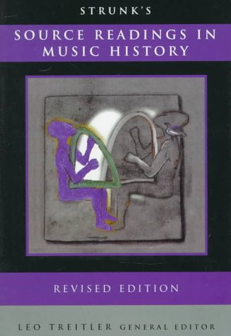 Source Readings in Music History   1998 (Revised) edition cover
